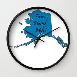 Turn Alaska Blue! Vote Democat Liberal Midterms 2018 Wall Clock