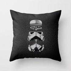 construct-a-trooper. Throw Pillow