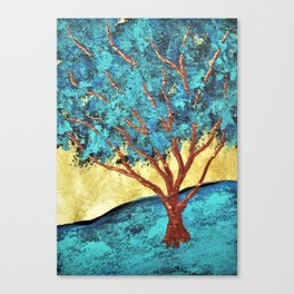 Twilight Woods #292 by Michael Kraus - blue white trees forest na Canvas Print