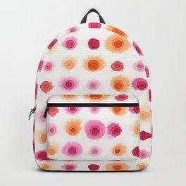 Pink & Orange Watercolor Dots Backpack