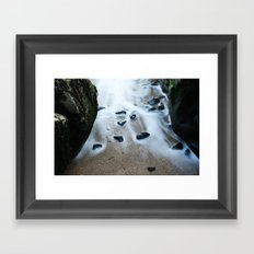 beach stones Framed Art Print