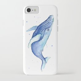Humpback Whale Watercolor iPhone Case