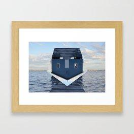 Down Under // Boatshed. Framed Art Print