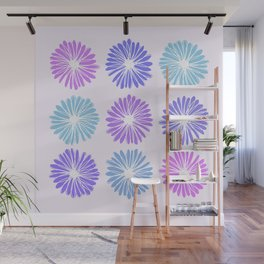 Playful Flowers Cool Wall Mural