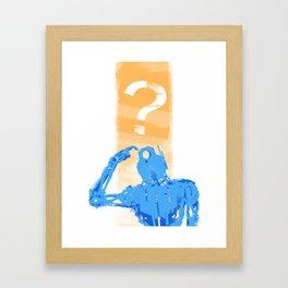 Robo Huh? Framed Art Print