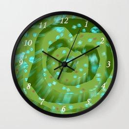 Green poppies S10 Wall Clock