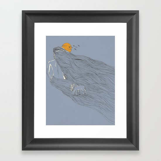 Howl River Framed Art Print