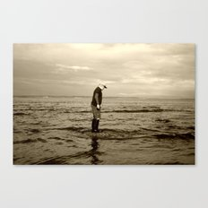 A Boy and The Sea Canvas Print