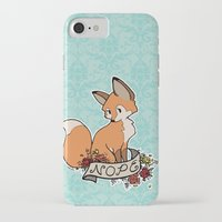 nope iPhone & iPod Cases featuring nope by eglads