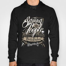 Supernatural Saving People Hunting Things the Family business quote Dark Background Hoody