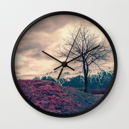 Japanese Mountains Wall Clock