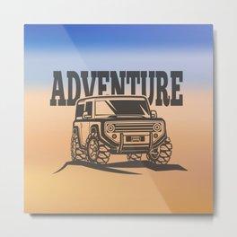 adventure off-road car trip Metal Print