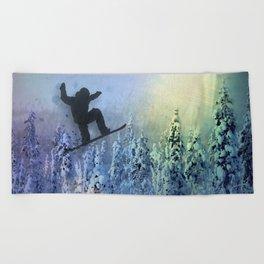 The Snowboarder: Air Beach Towel