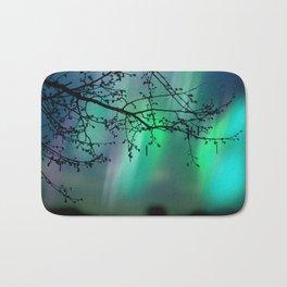 Tree Branch and Aurora Borealis Night Sky Bath Mat