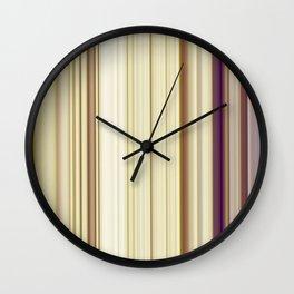 Purpel Stripes Wall Clock