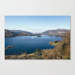 Views over Derwent Water from Suprise View near Ashness. Cumbria, UK. Canvas Print