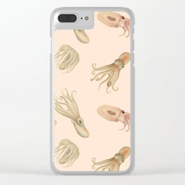 Cephalopods on Blush 2 Clear iPhone Case