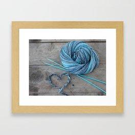 Blue spun love Framed Art Print