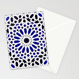 (N8) Epic Original Blue Moroccan Geometric Artwork. Stationery Cards