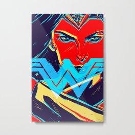 W O N D E R W O M A N (BvS) Metal Print