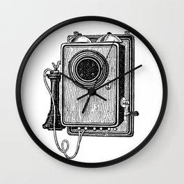 Old telephone 2 Wall Clock