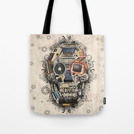 retro tech skull 2 Tote Bag