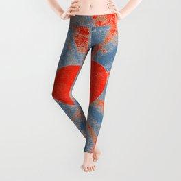 Red starburst valentine heart Leggings