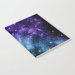 Purple Teal Galaxy Nebula Dream #1 #decor #art #society6 Notebook