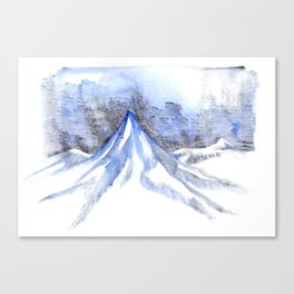 Lonely Blue Mountain Canvas Print