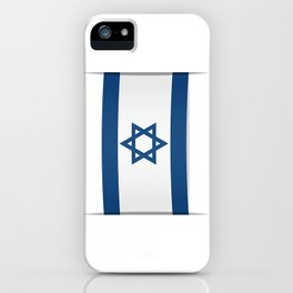 Flag of Israel. Vector illustration of a stylized flag. The slit in the paper with shadows iPhone Case