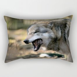 The wolf is hungry Rectangular Pillow