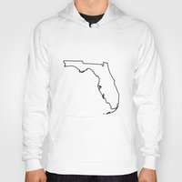 florida Hoodies featuring Florida by mrTidwell
