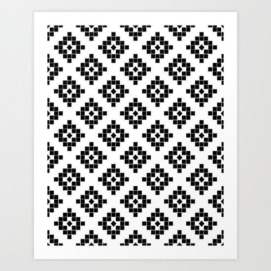 Southwest in black and white modern traditional geometric aztec native print design desert kilim - Ways decorating using kilim print ...