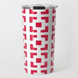 Red Tile pattern Travel Mug