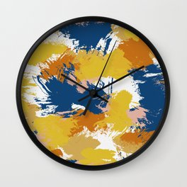 Colorful Abstract I Wall Clock