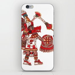 Dancing Aztec shaman warrior iPhone Skin