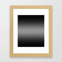 Black to Gray Horizontal Bilinear Gradient Framed Art Print