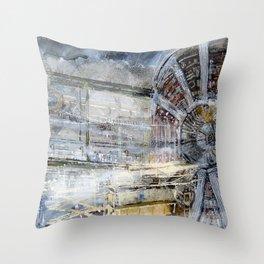 HADRON COLLIDER Switzerland Throw Pillow