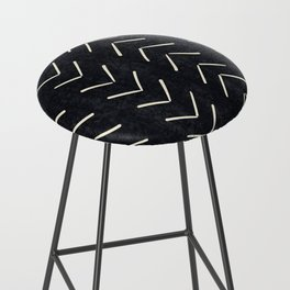 Mudcloth Big Arrows in Black and White Bar Stool
