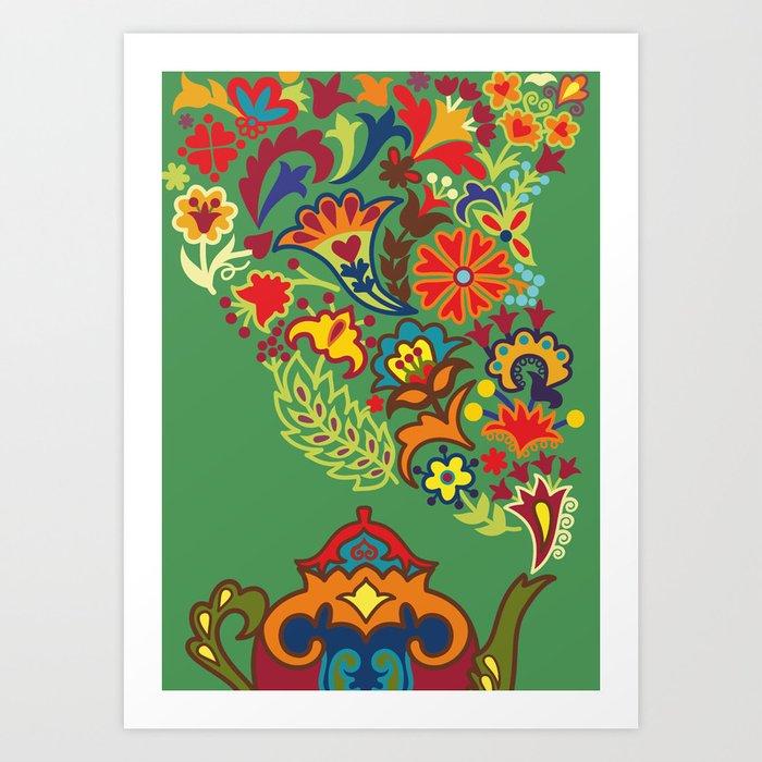 Tea drinking Art Print