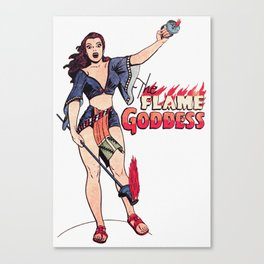 The Flame Goddess Canvas Print