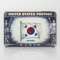 korea iPad Cases featuring Flag of Korea by lanjee