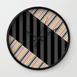 Set 1 striped Wall Clock