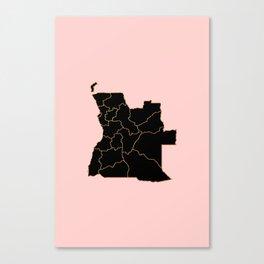 Angola map Canvas Print