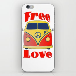 Free Love , festival fantasy with Woodstock in mind iPhone Skin