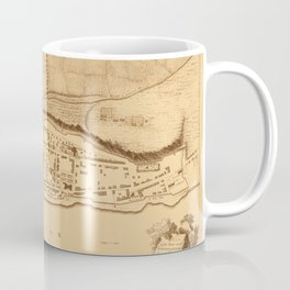 Map Of Montreal 1758 Coffee Mug