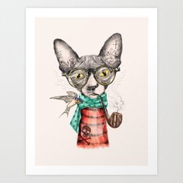 Mr.Peterbald Art Print