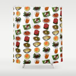 Eat Local SG Shower Curtain