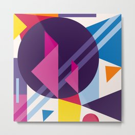 Abstract modern geometric background. Composition 7 Metal Print