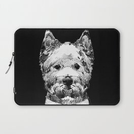 Black And White West Highland Terrier Dog Art Sharon Cummings Laptop Sleeve